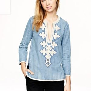 J. Crew Embroidered Tunic